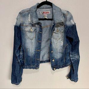 1st Kiss Acid Wash Denim Jacket